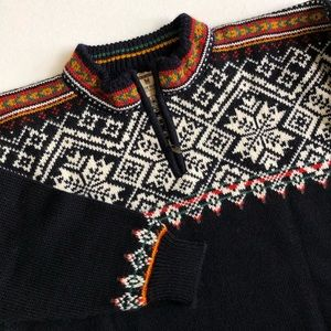 Dale Of Norway Fair Isle 1/4 Zip Wool Sweater